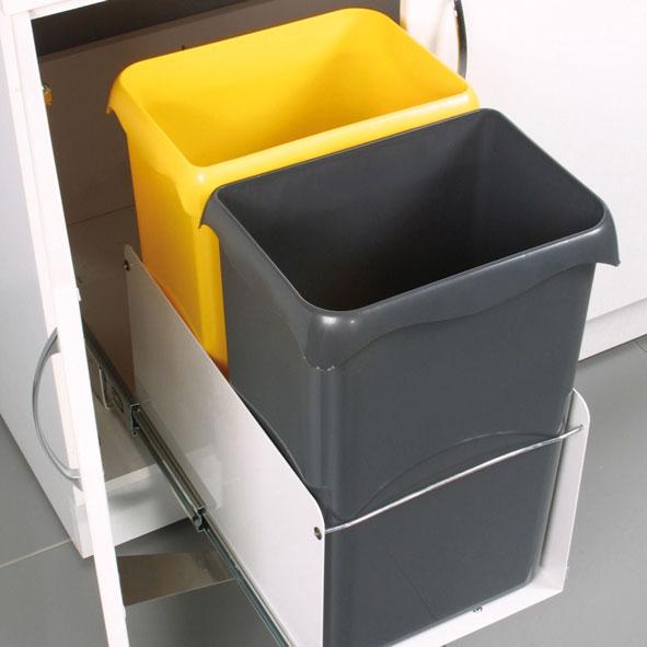 poubelles tri s lectif 2 x 23 litres. Black Bedroom Furniture Sets. Home Design Ideas